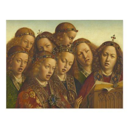Jan van Eyck Singing angels Ghent CC0974 Postcard - postcard post card postcards unique diy cyo customize personalize