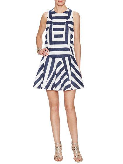 Stripe Paneled Drop Waist Dress by O'2nd at Gilt