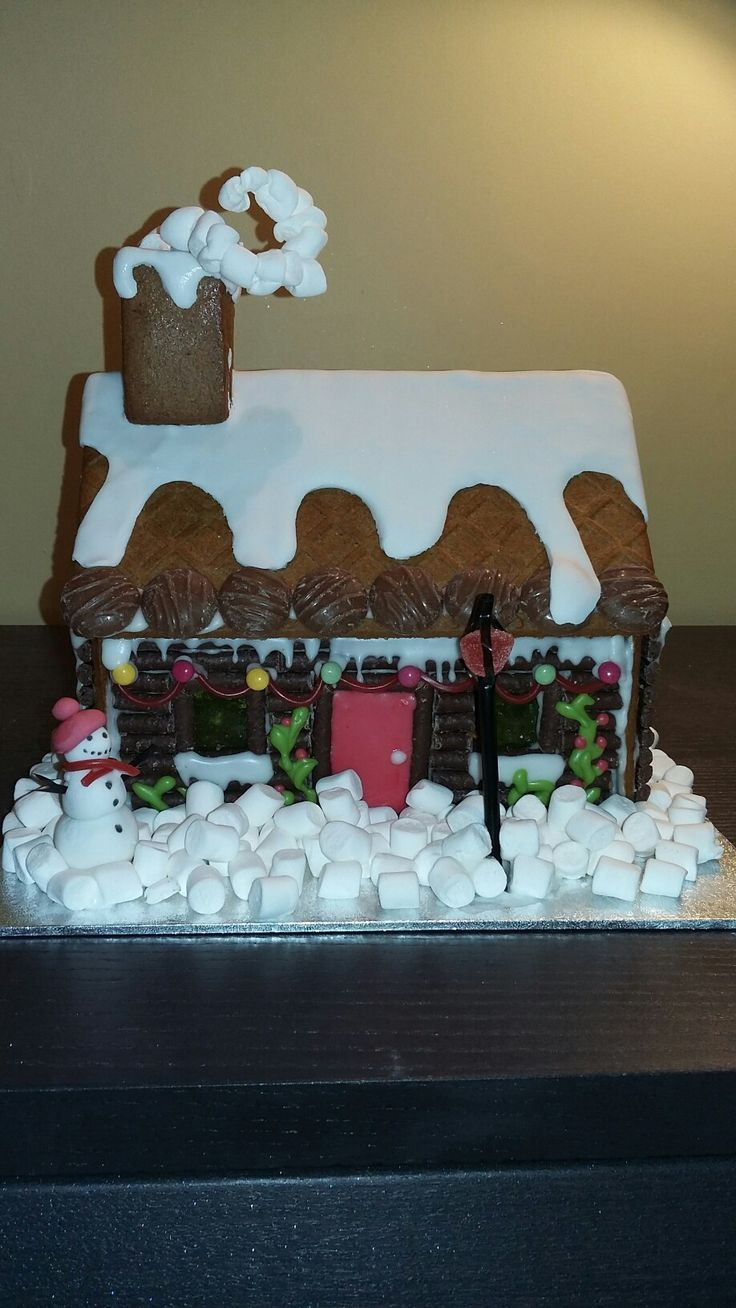Gingerbread house, Christmas charm, picture post card by Danielle Smith ( Rockylicious Cakes )