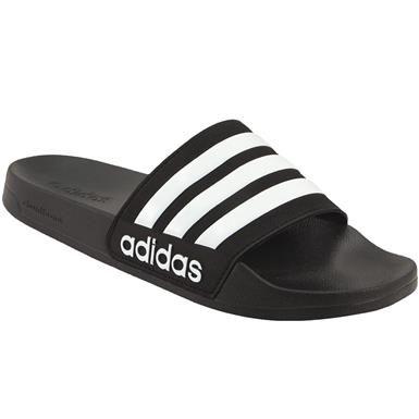online store dbef8 687e1 Adidas Cf Adilette Slide Sandals - Mens Black White