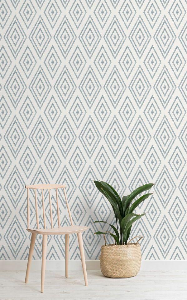 Weaved Diamond Pattern Wallpaper Mural In 2019 Pattern