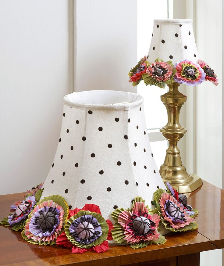 These lampshades are inspired by the beautiful cutting gardens just outside our design studio windows.