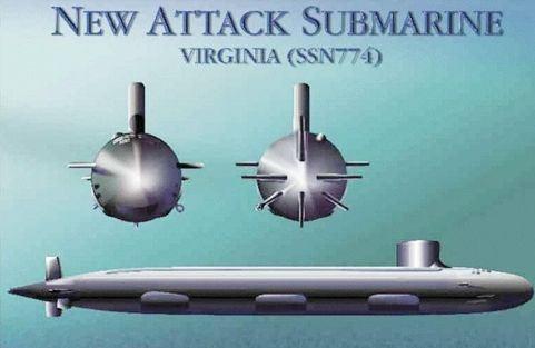 Designed as a more cost effective alternative to the Seawolf Class, which had been built to Cold War requirements. The Virginia class submarine is the third class of US Naval vessels to carry the name of the Commonwealth of Virginia. Built in tandem by General Dynamics Electric Boat and Northrop Grumman Shipbuilding Newport News. Each of the 30 planned submarines in this class (six completed as of early 2010) are expected to cost less than 2 billion dollars. They are intevirginia class…