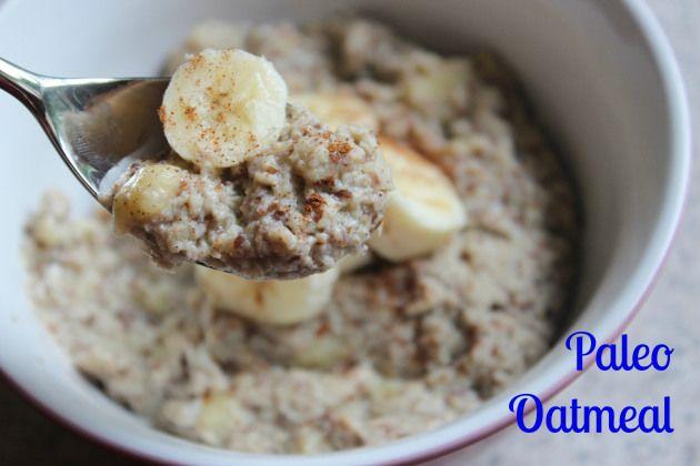Paleo Oatmeal: 2 Eggs, 1/2 Cup Almond Milk, 2 Tablespoons Ground Flaxseeds, 1 Teaspoon Cinnamon, 1 Banana mashed, 1/2 Teaspoon Vanilla