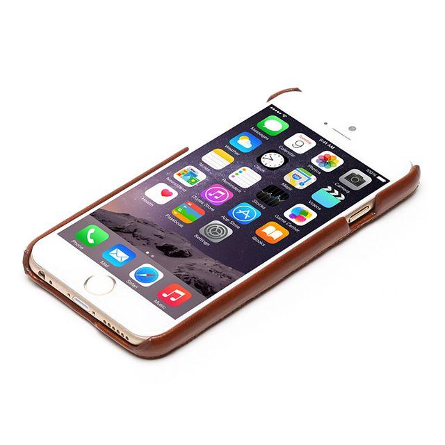 【【iPhone6 ケース】Croco Quilting Bar ブラウン】● レザーラッピング技術 革ではめ枠を密着して包みこむZENU…