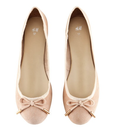 Ballet flats - if only they had a square toe so they'd