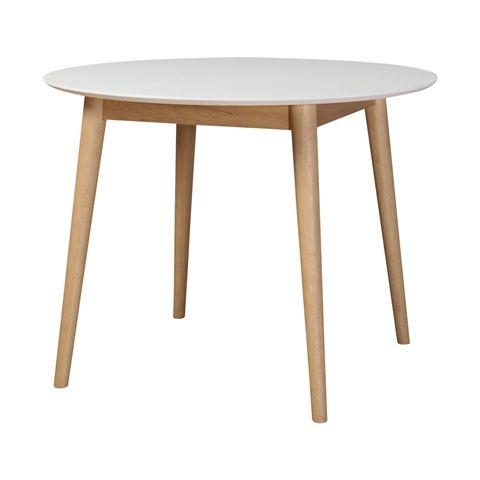 【φ950】ノーム ダイニングテーブル ラウンド ホワイト
