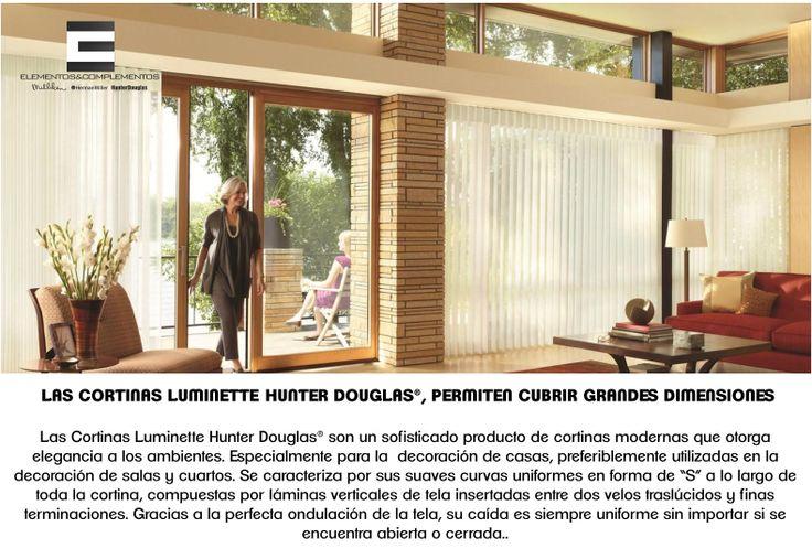 CORTINAS LUMINETTE Las Cortinas Luminette Hunter Douglas® son un sofisticado producto de cortinas modernas que otorga elegancia a los ambientes. Especialmente para la  decoración de casas. @hunterdouglasco #desing #house #style #spaces #decoration