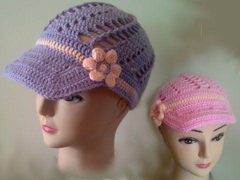 How To Crochet A Beanie Tutorial Beginner Friendly : Beginners Crochet Baseball cap Free pattern tutorial ...