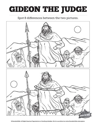 The 108 best Spot the difference bible stories images on ...  Gideon