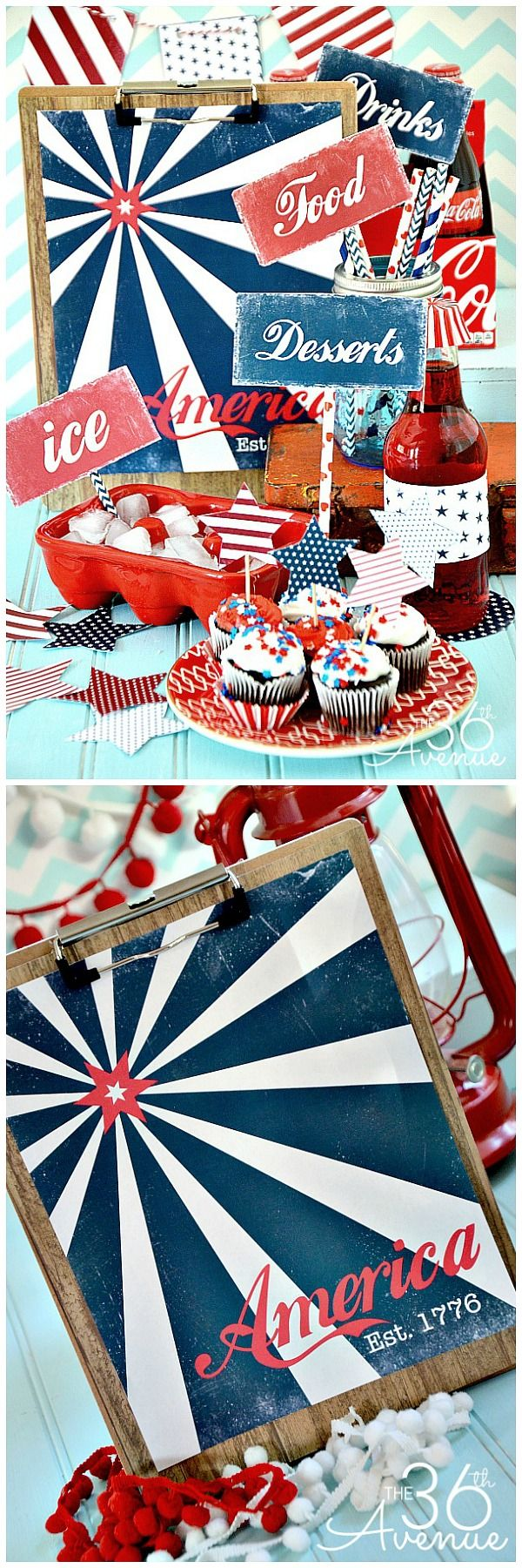 Fourth of July Free Printables... Everything you need to celebrate!!! the36thavenue.com