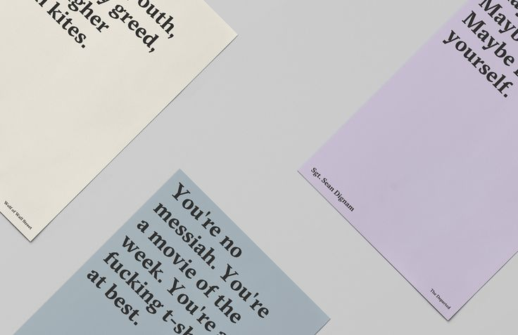 Type Posters - James Fitzgerald Portfolio - The Loop