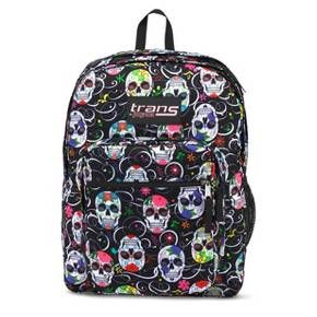 Hit the hallways in style with a Trans by JanSport, Backpack. This stylish book bag boasts a vibrantly colored, flower-adorned skull pattern for a fierce look that perfectly complements her distinct style.
