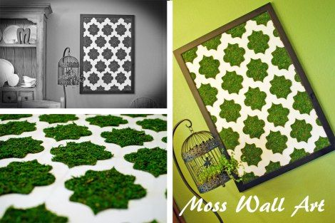 Create your own moss wall art with this tutorial {DaddysTractor.com}