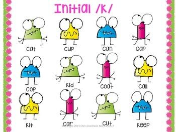 Word initial /k/ and /g/ free articulation activity