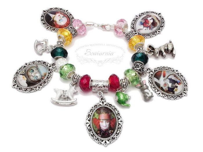 Alice in Wonderland modular bracelet