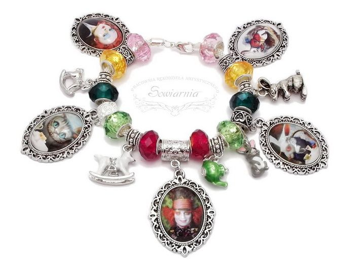 Alice in Wonderland modular bracelet