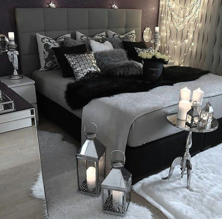 Pinterest Bedroom Ideas Black And White In 2020 Grey Bedroom Decor Black And Grey Bedroom Trendy Bedroom