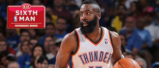 Well deserved! James Harden (OKC) - 16.8 ppg off the bench