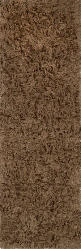 Nuloom FS02-2608 Flokati Collection Milk Chocolate Finish HAND WOVEN GENUINE GREEK FLOKATI