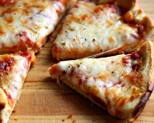 Try this recipe for a pan crust pizza without the delivery.