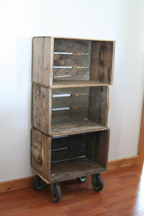 29 best fruit crate ideas images on pinterest pallets for Where can i buy wooden milk crates