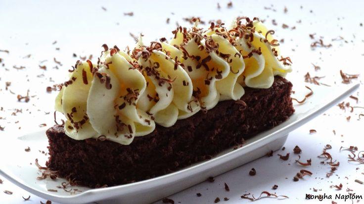 Konyha Naplóm: Tejszínkrém csokoládés piskótán