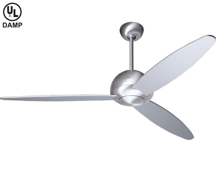 Modern Fan PLU-BA Plum 52 Inch Brushed Aluminum Ceiling Fan