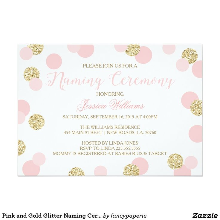 25 best ideas about Naming Ceremony – Naming Ceremony Invitation Template