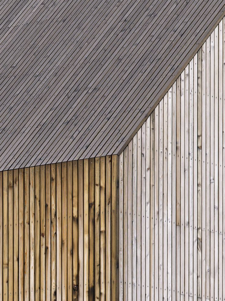 Timber cladding.