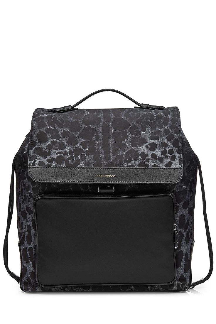 DOLCE & GABBANA Dolce & Gabbana Printed Backpack with Leather. #dolcegabbana #bags #leather #animal print #backpacks #