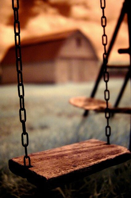 These  are the best swings; not like those rubber taco seats that squeeze your thighs. lol