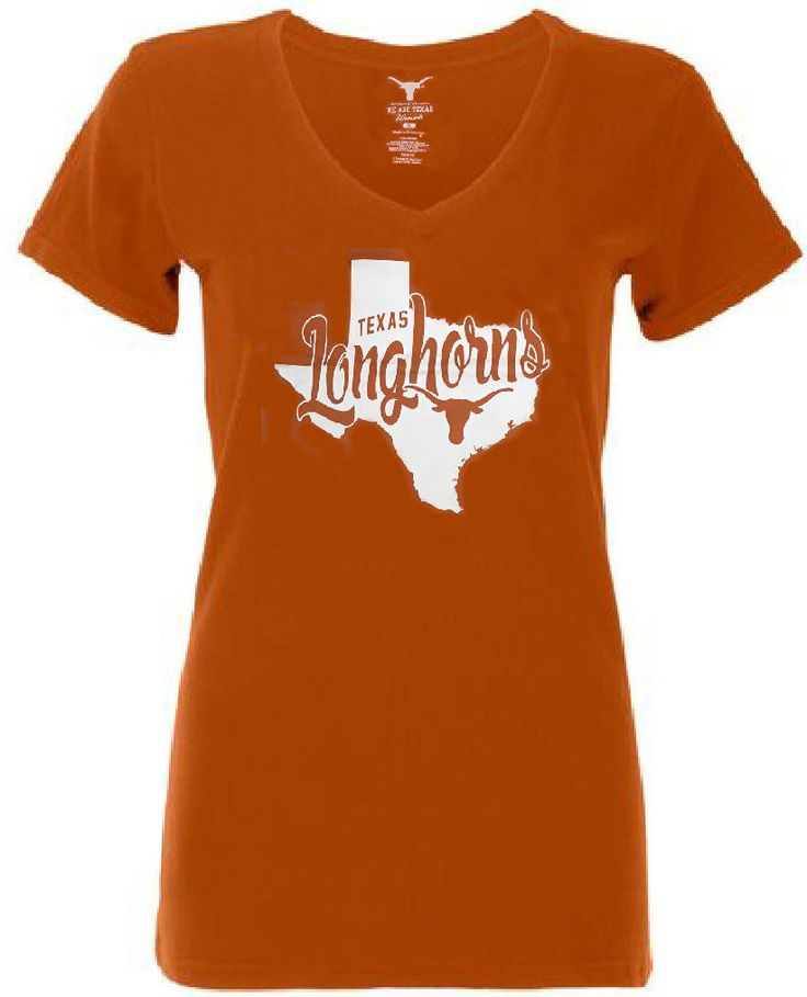 Ladies Texas Longhorns  Orange Emilie V-Neck T Shirt $19.95