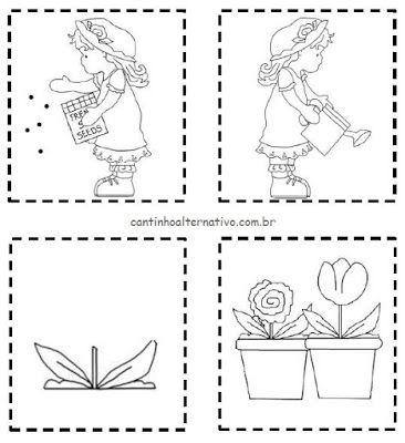 Livrinho Para Imprimir: APRENDENDO A PLANTAR - Blog Cantinho Alternativo