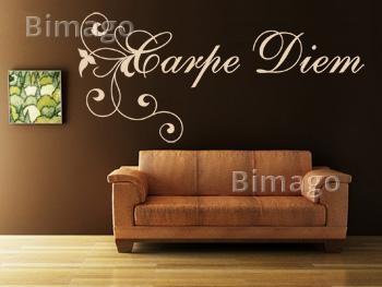 Fresh Wandbilder Tapeten und Wandtattoos mit dem Motiv carpe diem bei bimago