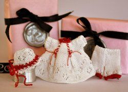 Knitted White Christmas Dress Set by Jenny Tomkins