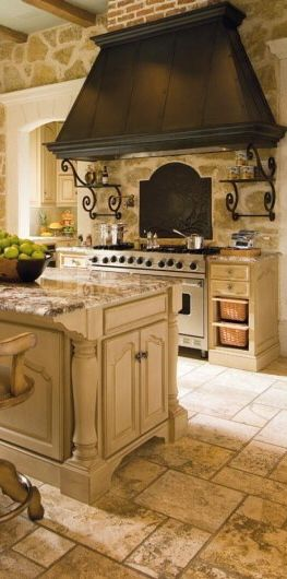French white kitchen with commercial appliances