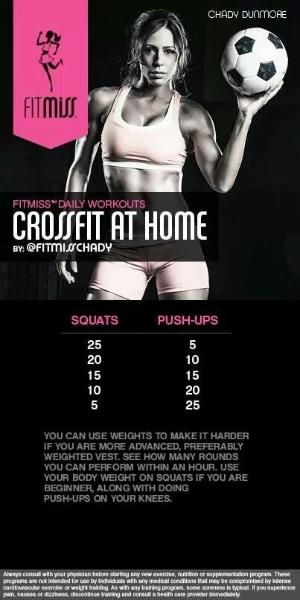 Crossfit At Home workout | Fitmiss by Bruceski