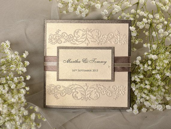 17 Best images about wedding stationery – Embossed Pocket Wedding Invitations