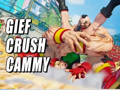 GIEF CRUSH CAMMY: Street Fighter 5 Online Matches