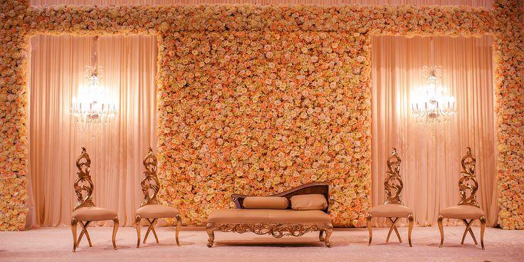 Flower style decorations muslim wedding #Beautiful#Wedding