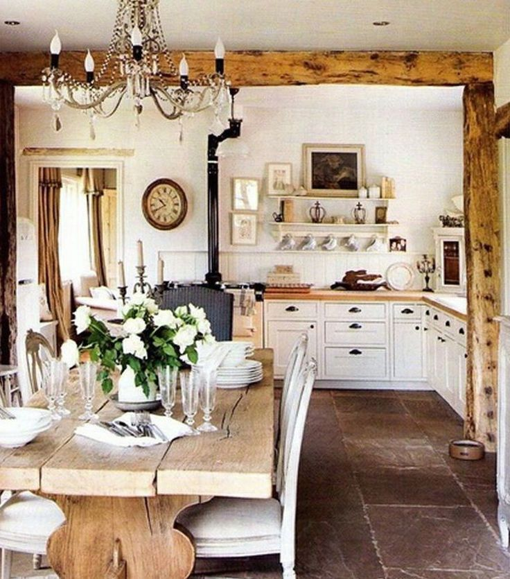 Charming Rustic Kitchen Ideas And Inspirations: 33 Charming French Kitchen Decor Inspirational Ideas (22