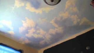 How to Paint Clouds on ceiling - Mural Joe, via YouTube.