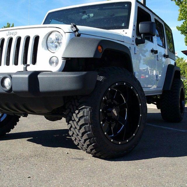 "Jeep Jk With A @Daystarproducts 2"" Lift. 20x12 Moto Metal"