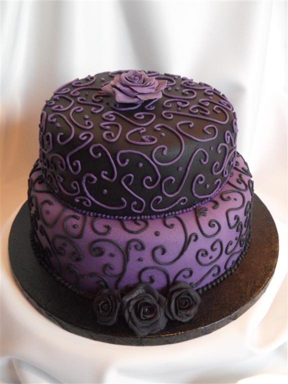 gothic Birthday Cake | Happy Birthday, Goth Girl..... - EnTicing Cakes by Christine