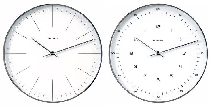左からLine φ300 D45mm ¥50,000 Number φ300 D45mm ¥50,000 ともにJUNGHANS/hhstyle.com 青山本店