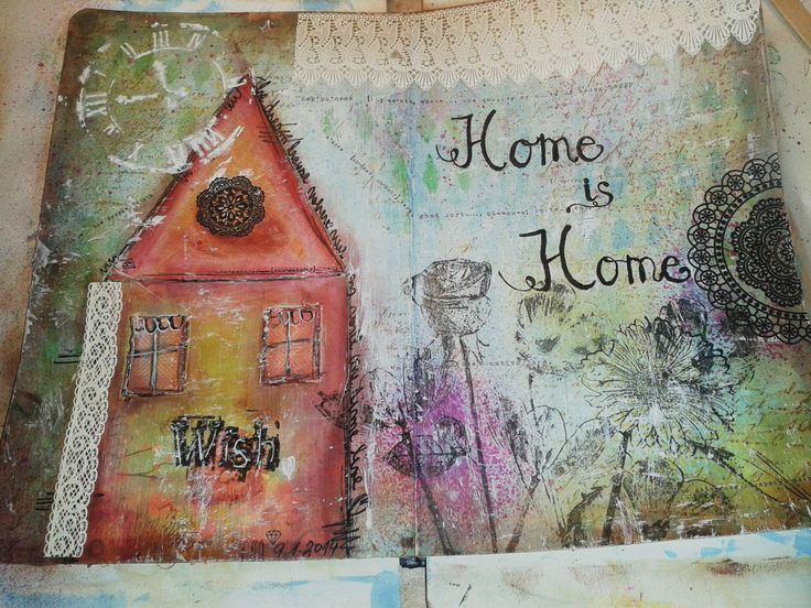 art journal home, domov