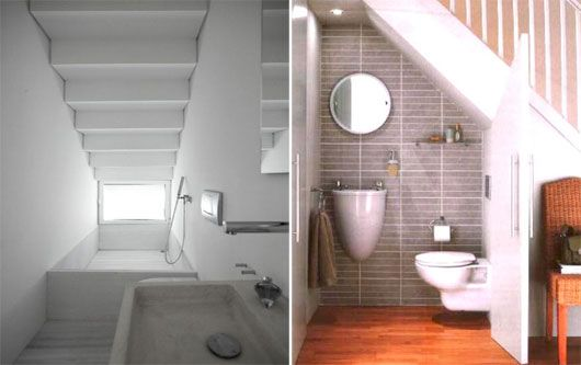 Lighting Basement Washroom Stairs: 40 Best BATHROOMS UNDER STAIRS Images On Pinterest