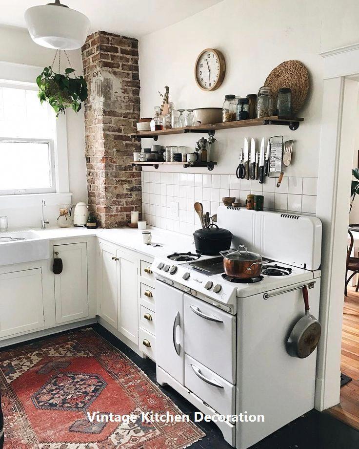 new vintage kitchen ideas #vintagekitchen #modernhomedecorlivingroom