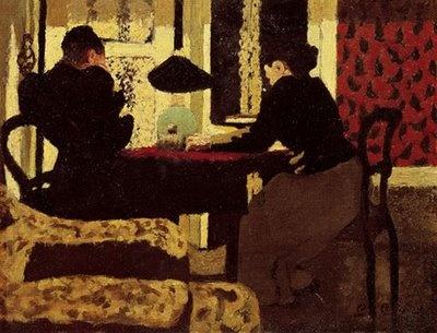 Edouard Vuillard  Deux Femmes sous la lampe  1892